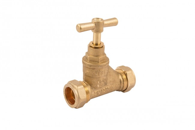 25MM BRASS STOPCOCK (STOP VALVE) FOR  MDPE