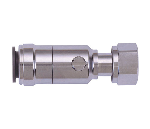 Speedfit Brass Chrome Plated Service Valve With Tap Connector 15mm x 1/2in