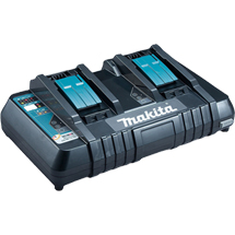 MAKITA 18V TWIN-PORT FAST CHARGER - DC18RD/1 - 110V