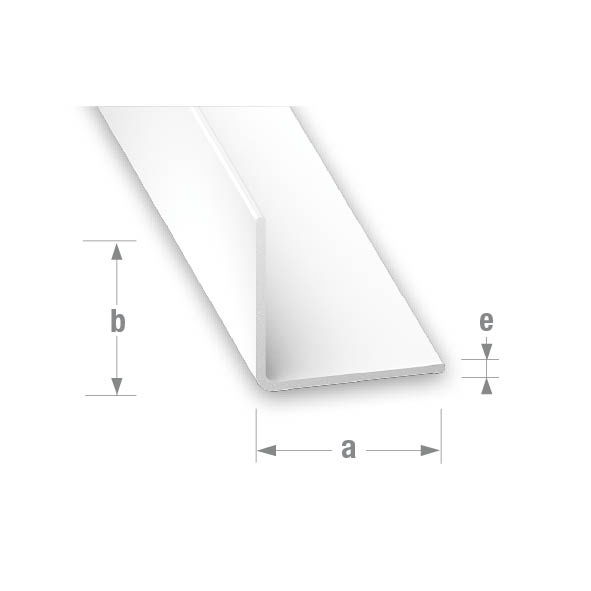 PVC EQUAL CORNER WHITE 25x25mm 1mtr
