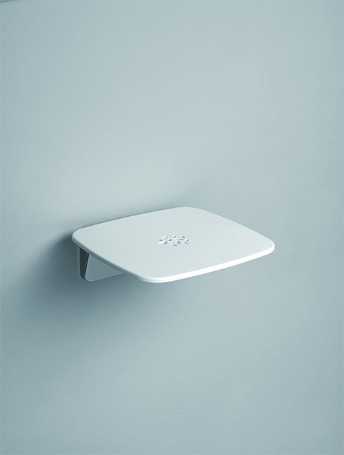 Lakes Series 300 SD Wall Mounted Shower Seat (160kg) White