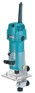 "Makita 3707F 1/4"" Laminate Collet Trimmer with LED Job Light - 240V"