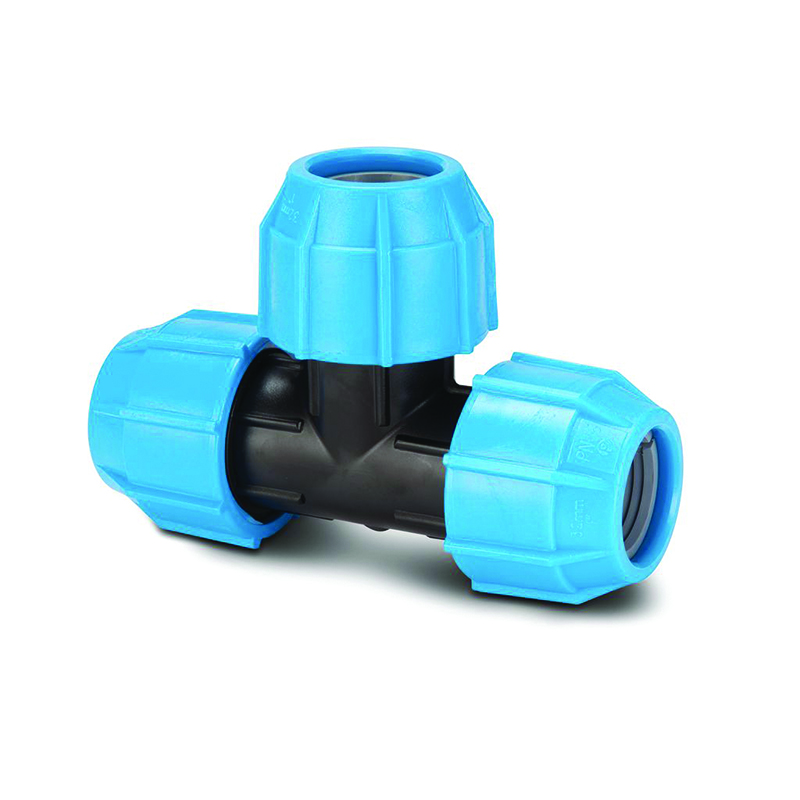 POLYPIPE 20MM POLYFAST EQUAL TEE - MDPE - MAINS WATER