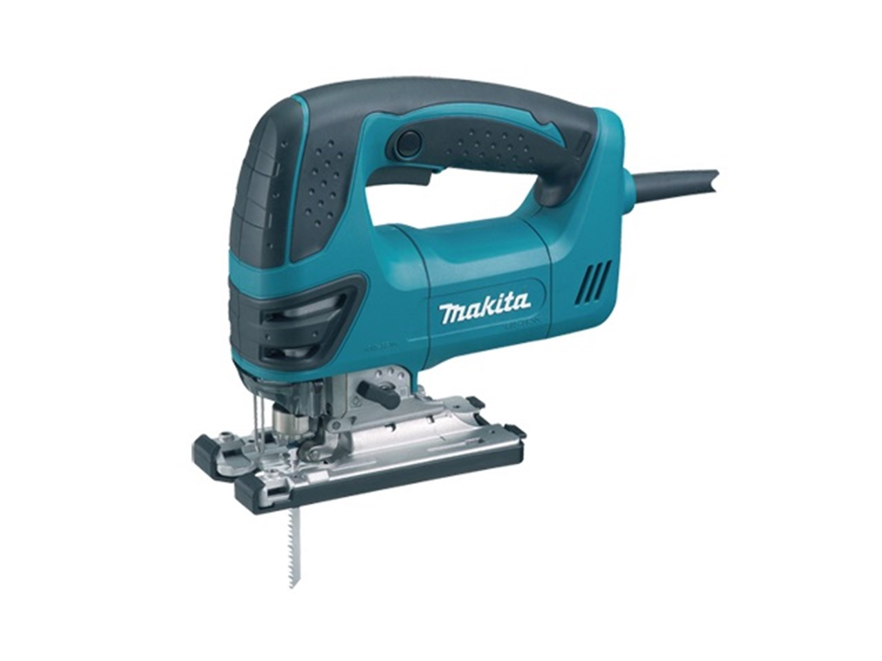 Makita 4350FCT 240V Orbital Action Jigsaw & Light 720W - Quick Release Tool-Less Blade Change