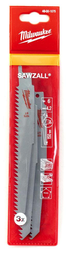MILWAUKEE SAWZALL BLADE - 150MM WRECKER BLADES - 5PC - 48001075