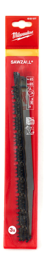 MILWAUKEE SAWZALL BLADE - 240MM WOOD & PLASTICS - 3PC - 48001077