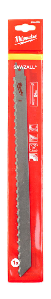 MILWAUKEE SAWZALL BLADE - 300MM SPECIAL APPLICATION (INSULATION CARTON FOAM) - 5PC - 48001084
