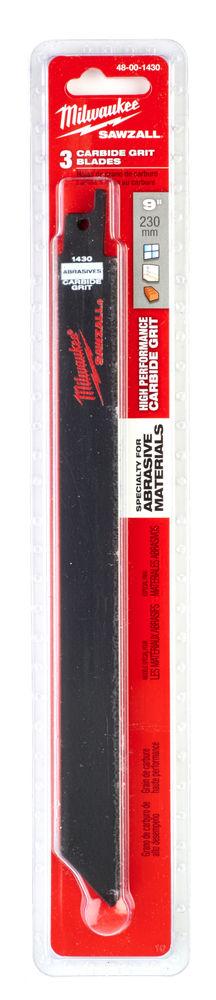 MILWAUKEE SAWZALL BLADE - 230MM COARSE GRIT - 3PC - 48001430
