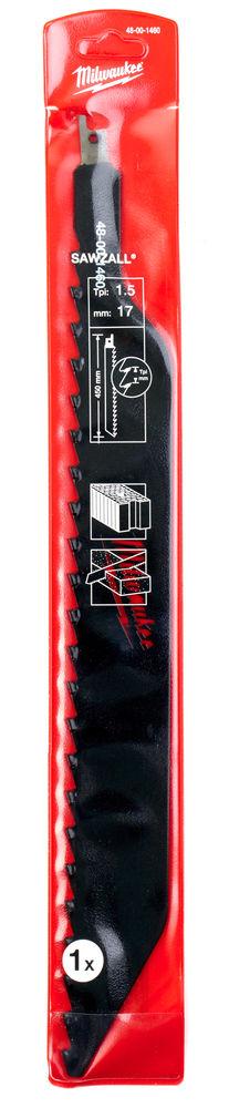 MILWAUKEE SAWZALL BLADE - 450MM BRICK & BLOCK - 1PC - 48001460