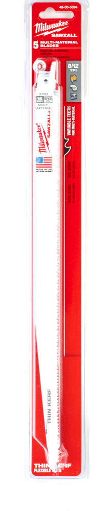 MILWAUKEE SAWZALL BLADE - 300MM GENERAL PURPOSE - 5PC - 48005094