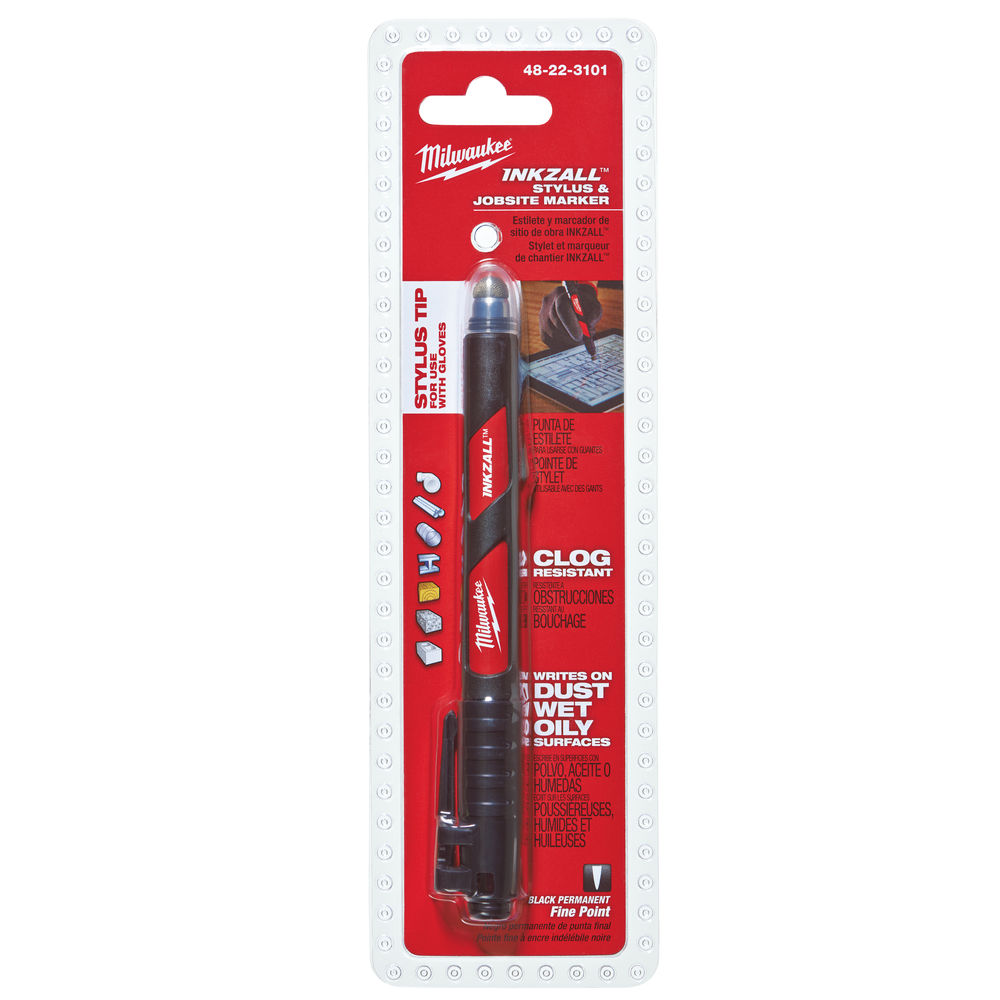 MILWAUKEE INKZALL FINE POINT MARKER C/W STYLUS - 48223101