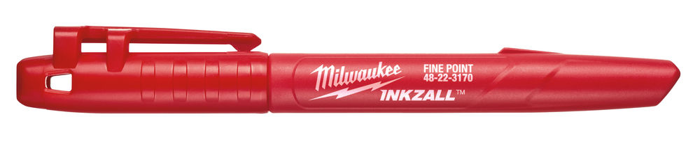 MILWAUKEE INKZALL JOBSITE RED MARKER PEN FINE POINT - 48223170