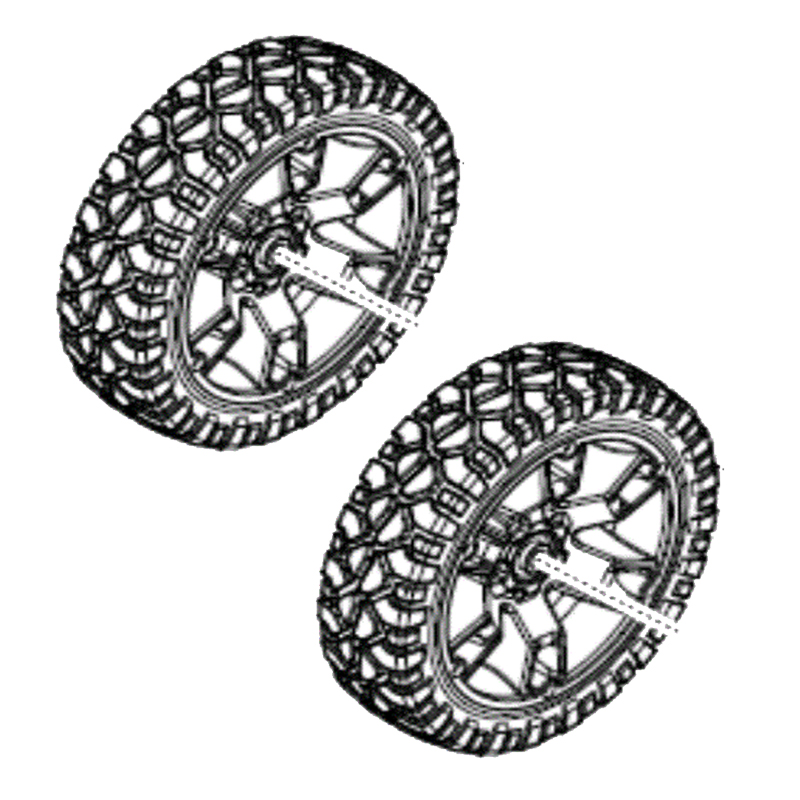 MILWAUKEE PACKOUT - SPARE PART - PAIR OF PACKOUT WHEELS ONLY - 4931466533