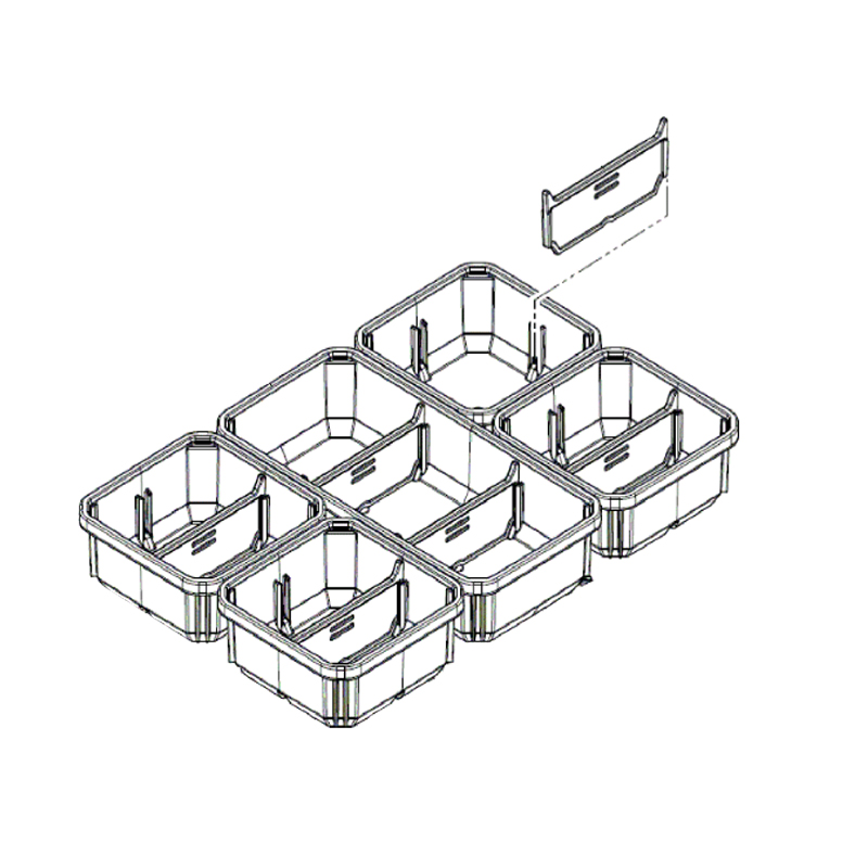 MILWAUKEE PACKOUT - SPARE PART - COMPACT ORGANISER INSERT BOXES - 4931472238 / 4932478301