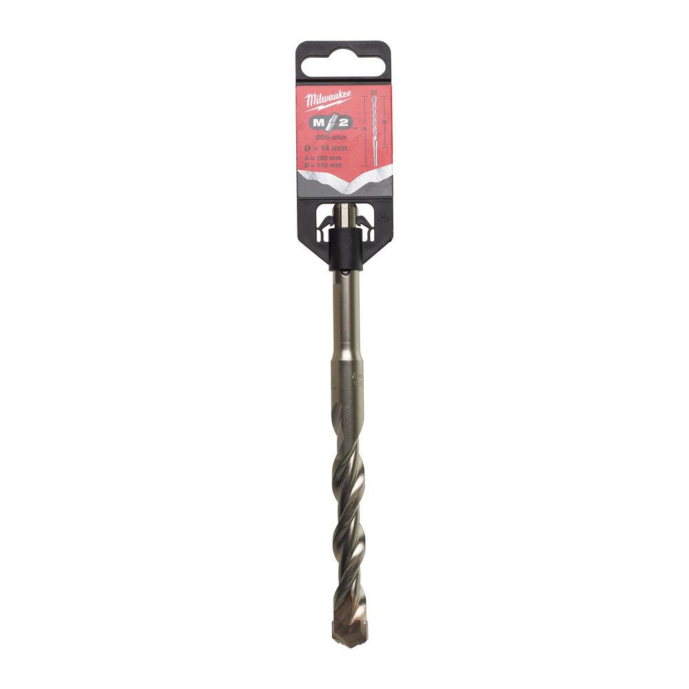 MILWAUKEE SDS-PLUS M2 DRILL BIT 2 CUT 14MM X 160MM 4932307078