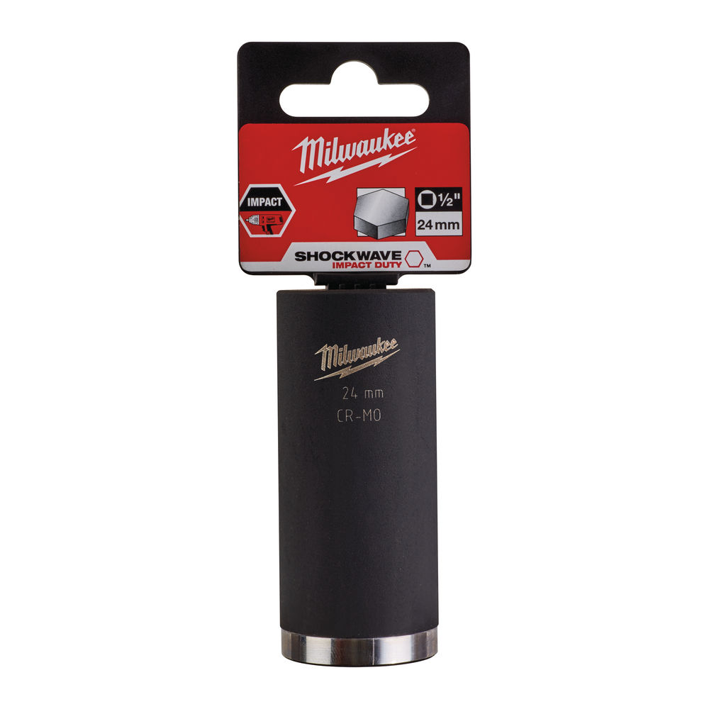 Milwaukee 24mm 1/2in Shockwave Impact Duty - Impact Socket Deep 4932352857