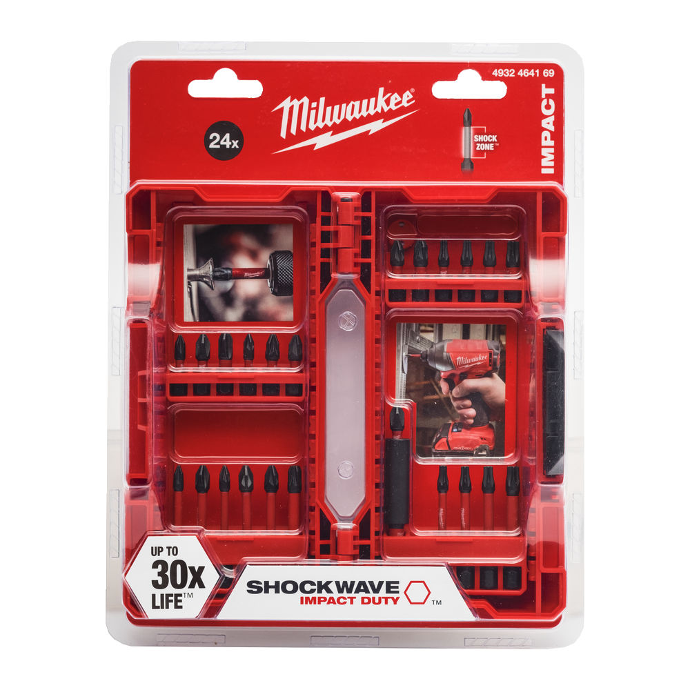 MILWAUKEE SHOCKWAVE SCREWDRIVER BIT SET 24PC - 4932464169