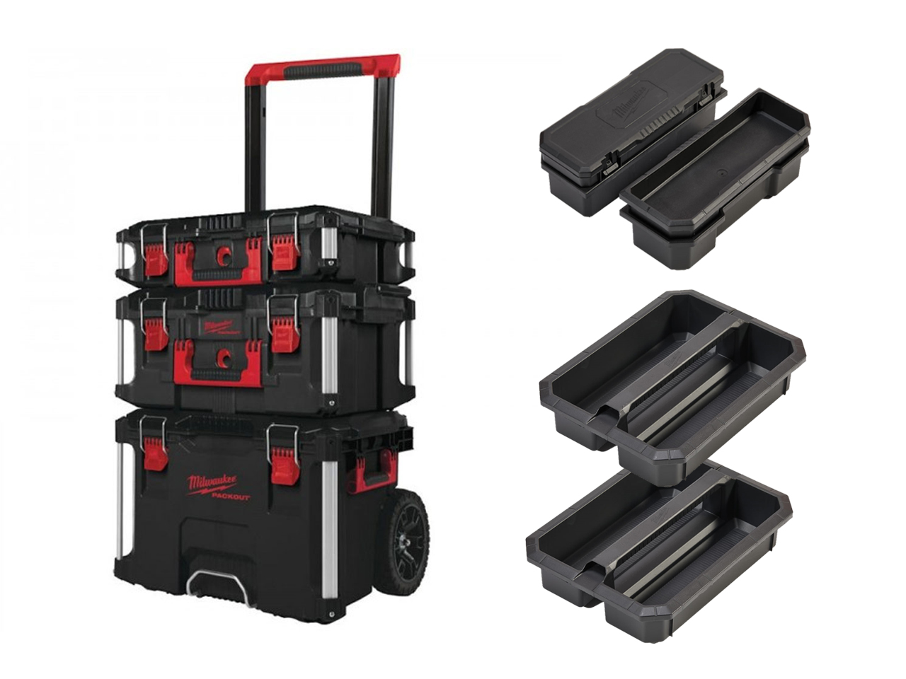 Milwaukee Packout - Packout Trolley / Box 2 / Box 3 & Inserts - 493246424-KIT