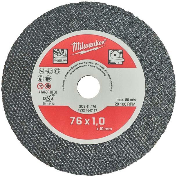 MILWAUKEE 76MM THIN METAL CUTTING DISC - M12FCOT - 5 PK - 4932464717