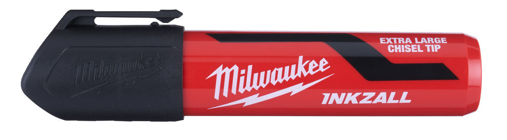 MILWAUKEE INKZALL BLACK EXTRA LARGE CHISEL TIP MARKER PENS - 48223265