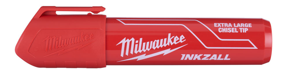 MILWAUKEE INKZALL RED EXTRA LARGE CHISEL TIP MARKER PENS - 48223266