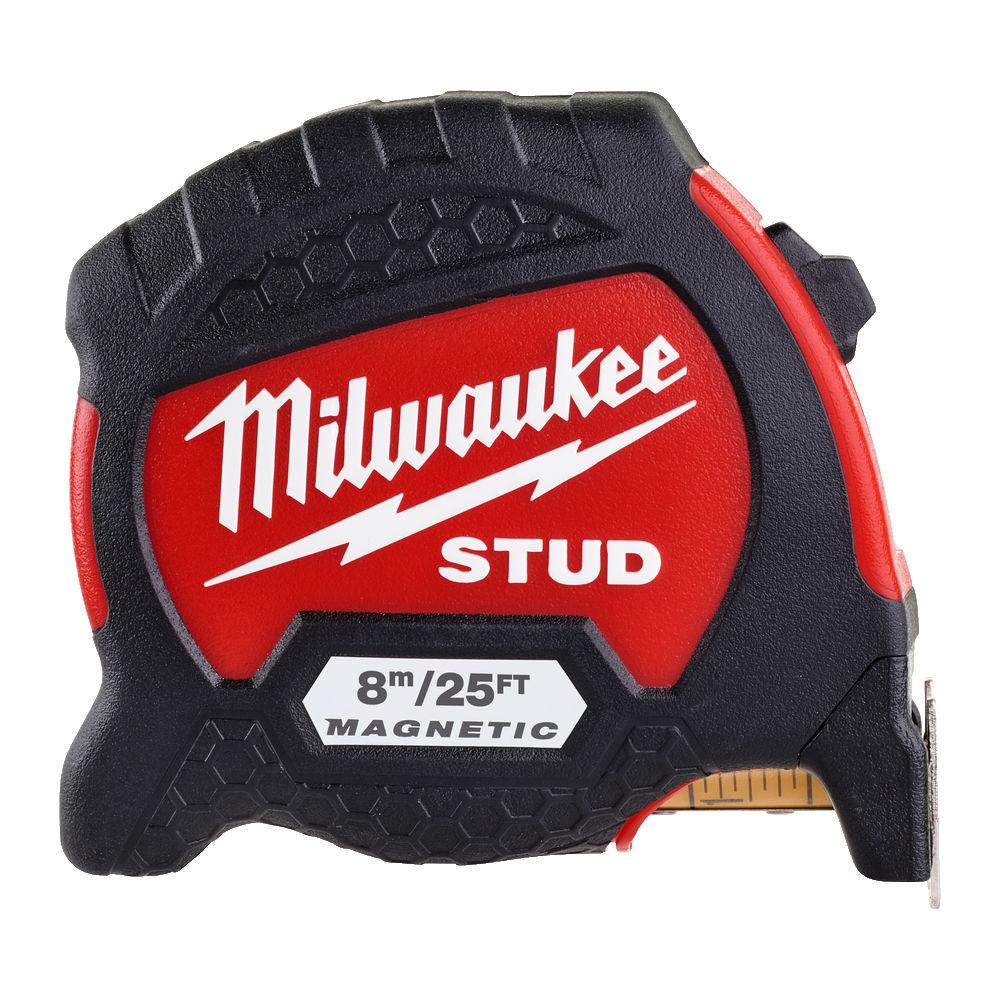 Milwaukee Stud Magnetic Tape Measure Metric/Imperial 8m/26Ft - 4932471629