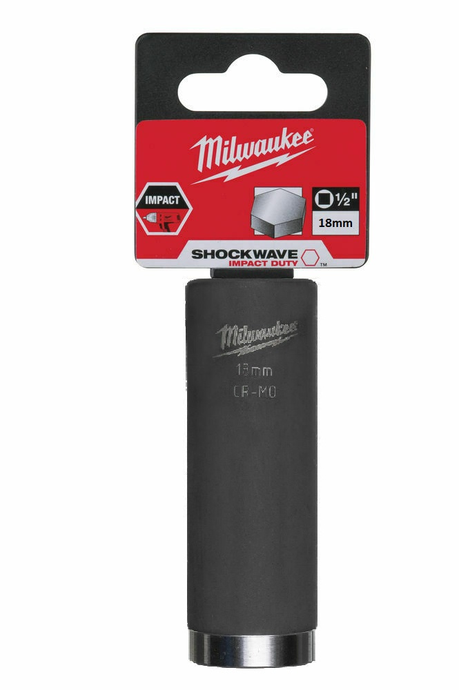Milwaukee 18mm 1/2in Shockwave Impact Duty - Impact Socket Deep 4932471738
