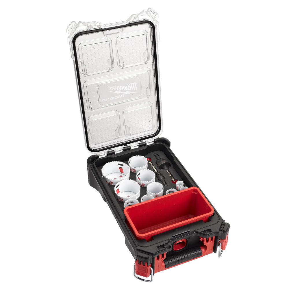 Milwaukee Hole Dozer Bi-Metal Packout Holesaw Set 10 Piece - 20mm - 76mm - 4932472248