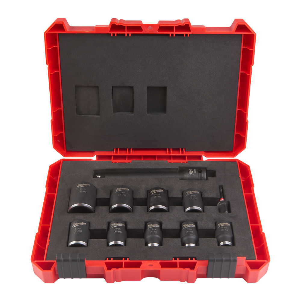 Milwaukee 1/2in Shockwave Impact Duty - Impact Socket Short - 11 Piece Set