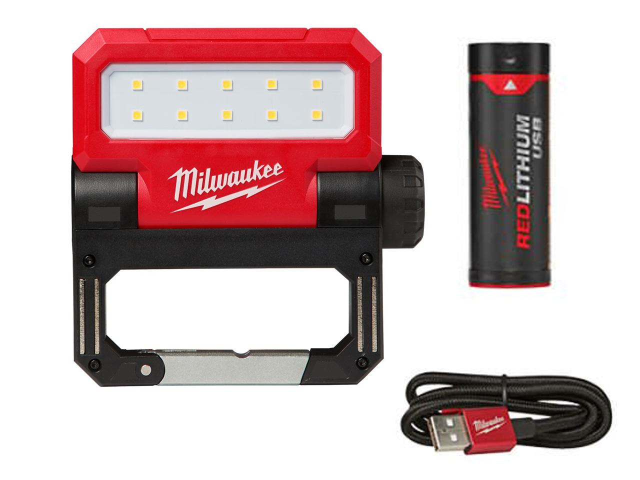 Milwaukee L4FFL Flood Light Usb Rechargeable Folding 4933464352