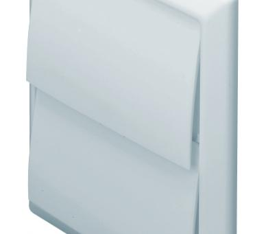 DOMUS EASIPIPE 125 RIGID DUCT OUTLET WITH GRAVITY FLAPS WHITE
