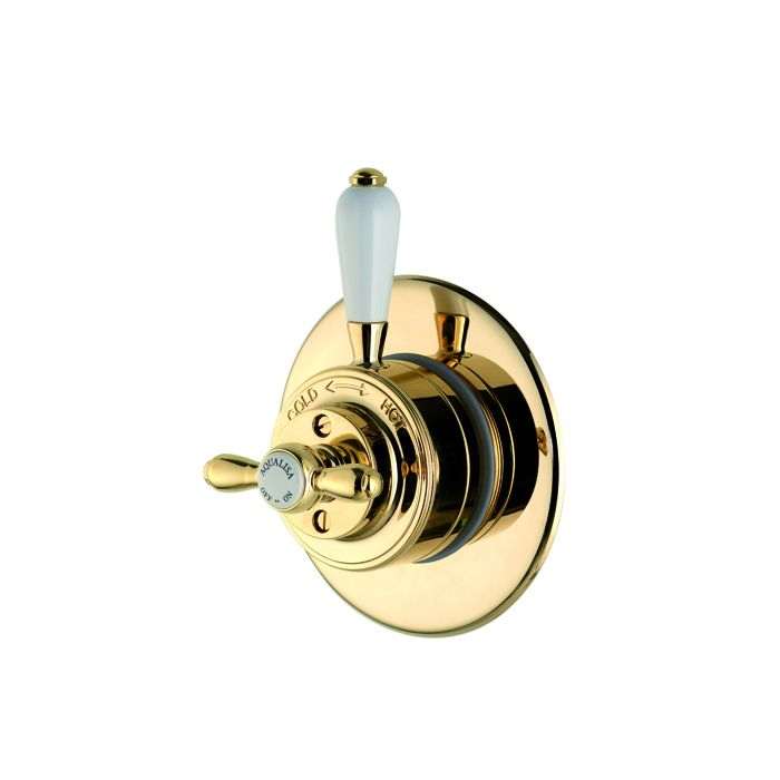 AQUALISA AQUATIQUE VICTORIAN THERMOSTATIC CONCEALED MIXER SHOWER - GOLD 500.00.04