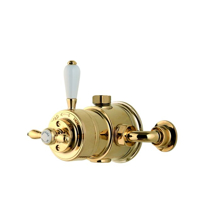 AQUALISA AQUATIQUE VICTROIAN THERMOSTATIC EXPOSED MIXER SHOWER - GOLD 500.10.04
