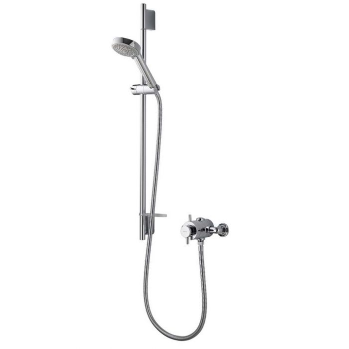 AQUALISA ASPIRE DL EXPOSED MIXER SHOWER WITH ADJUSTABLE HEAD