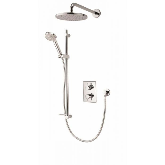 AQUALISA DREAM DCV DIVERT MIXER SHOWER WITH ADJUSTABLE & WALL FIXED DRENCHER HEADS - HP/COMBI