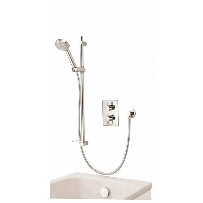 AQUALISA DREAM DCV DIVERT MIXER SHOWER WITH ADJUSTABLE HEAD & BATH OVERFLOW FILLER - HP/COMBI