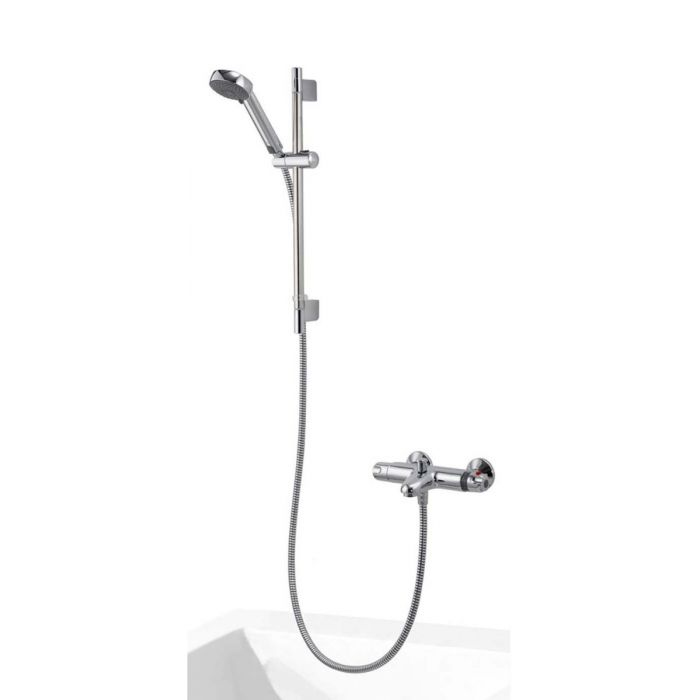 AQUALISA MIDAS 100 BATH SHOWER MIXER WITH ADJUSTABLE HEAD - HP/COMBI