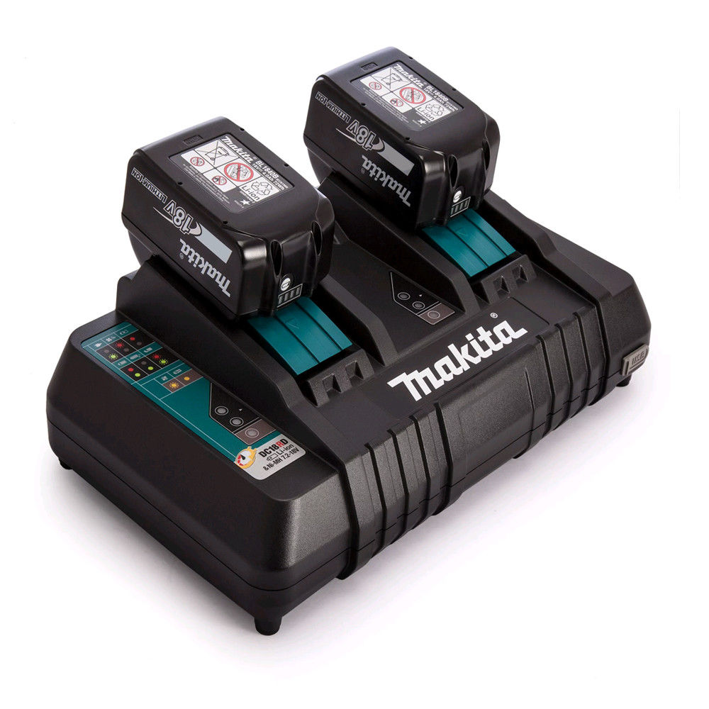 MAKITA 18V BATTERY 3.0AH LI-ION TWIN PACK - BL1830 & DC18RD TWIN FAST CHARGER