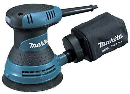 "Makita BO5030 240V 125mm (5"") Random Orbit Sander - Built-In Dust Collection System"