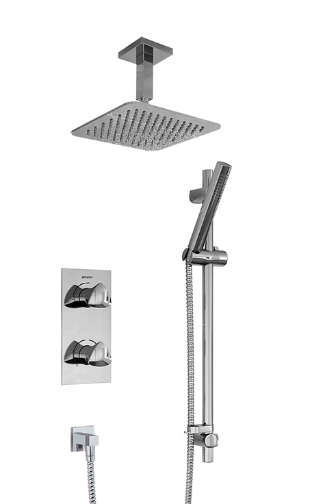BRISTAN BRIGHT SHOWER PACKAGE CHROME