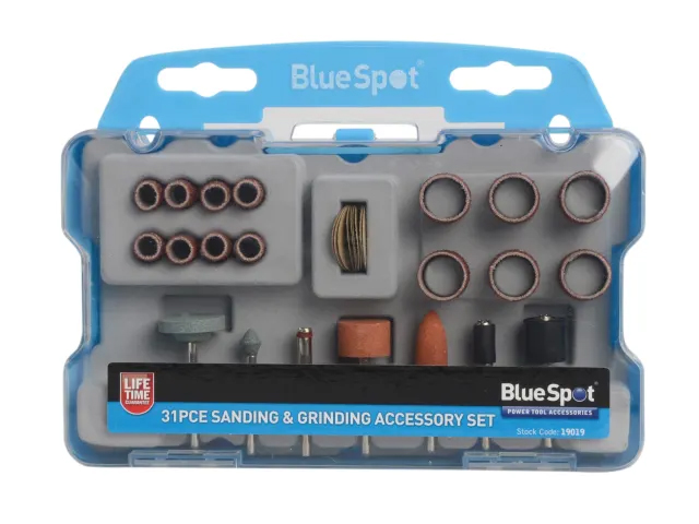 BLUE SPOT SANDING & GRINDING ACCESSORY 31 PIECE KIT - 19019