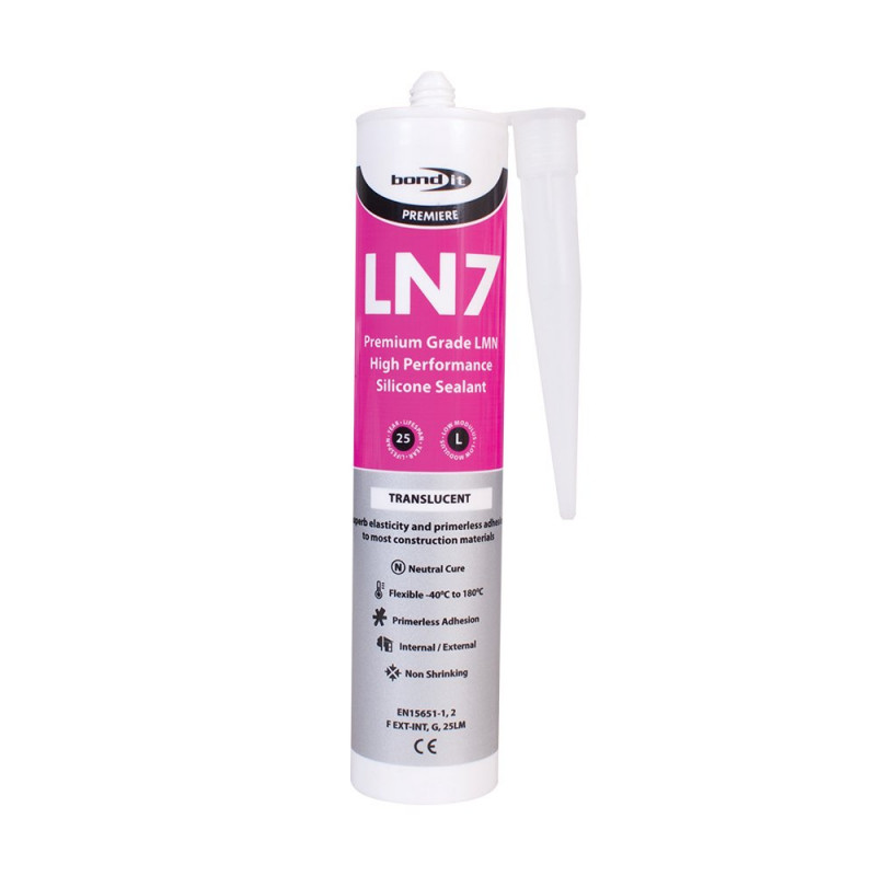 Bond-It LN7 Low Modulus Neutral Cure Silicone Sealant EU3 - Clear