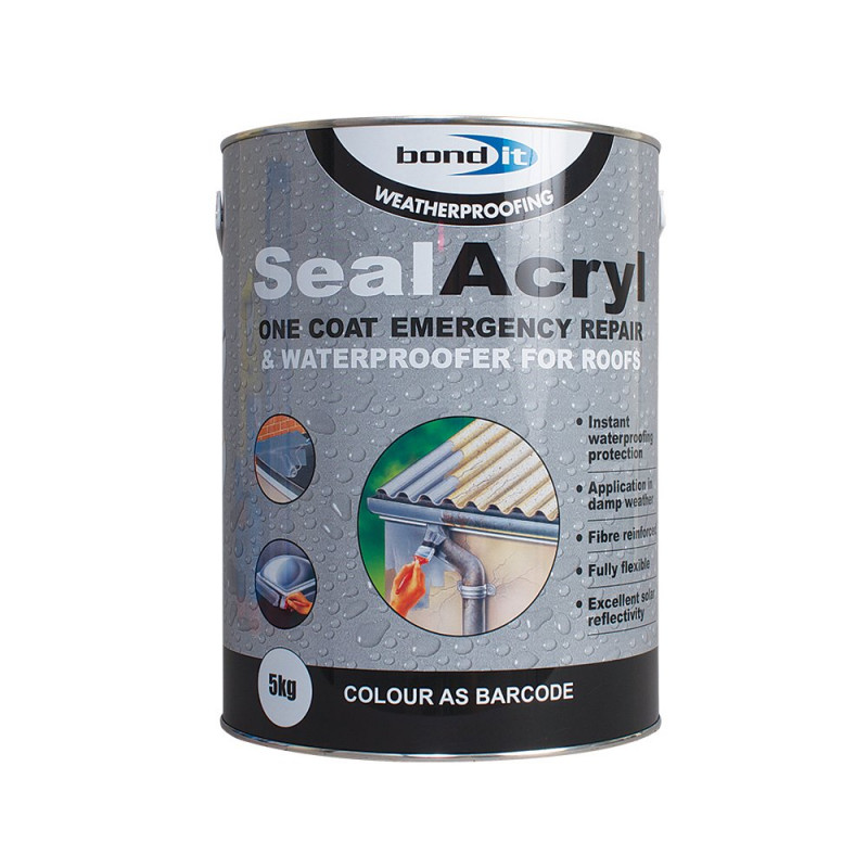 BOND IT SEALACRYL ACRYLIC WATERPROOFER GREY 5KG