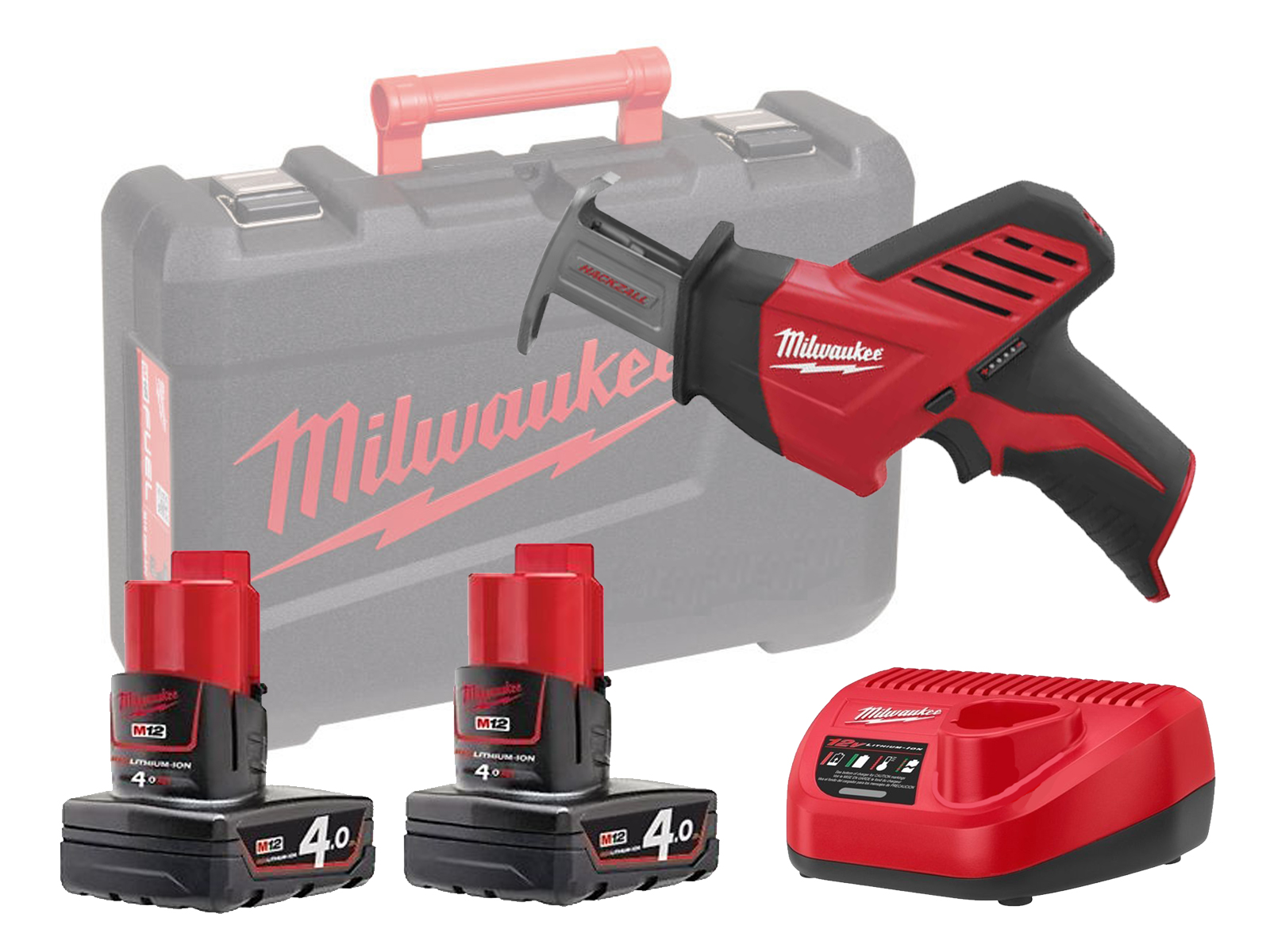 MILWAUKEE 12V COMPACT BRUSHED HACKZALL - C12HZ - 4.0AH PACK