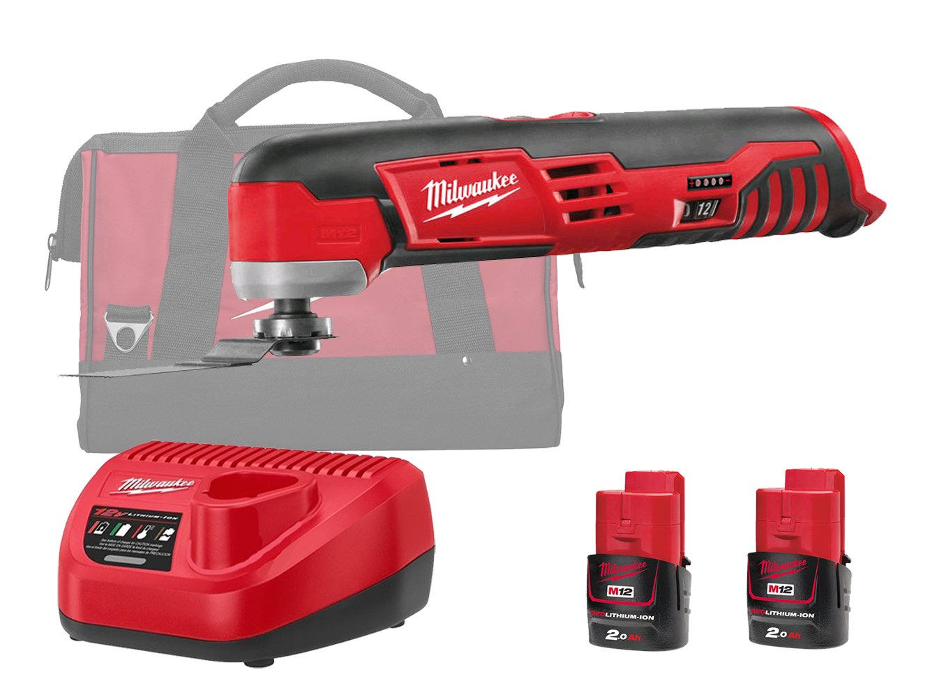 MILWAUKEE 12V COMPACT OSCILLATING MULTI TOOL - C12MT  - 2.0AH PACK