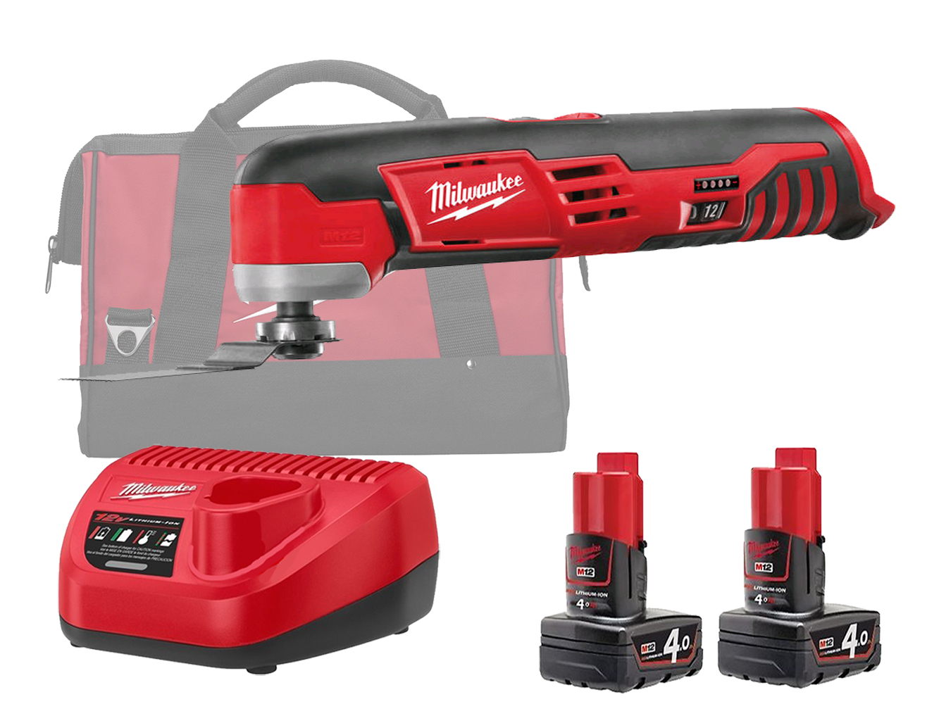 MILWAUKEE 12V COMPACT OSCILLATING MULTI TOOL - C12MT  - 4.0AH PACK