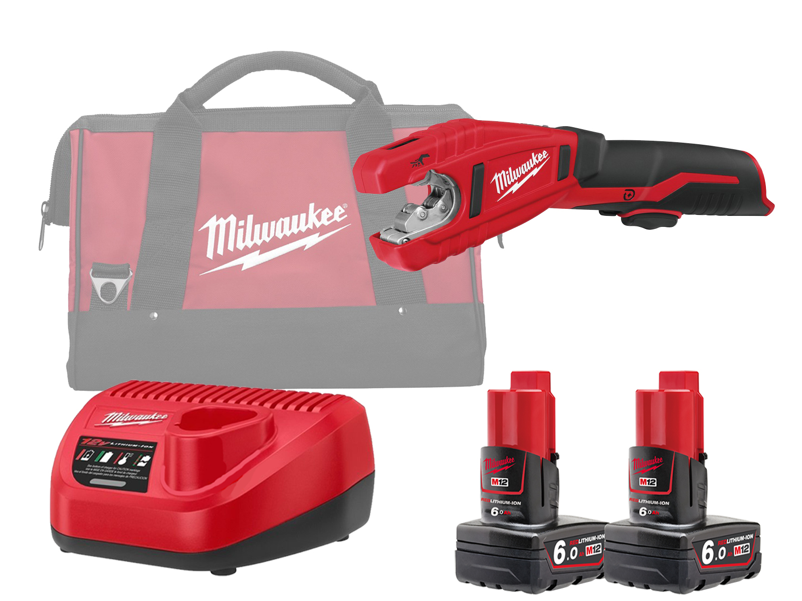 Milwaukee C12PC 12V Sub Compact Copper Pipe Cutter 12mm - 28mm - 6.0ah Pack