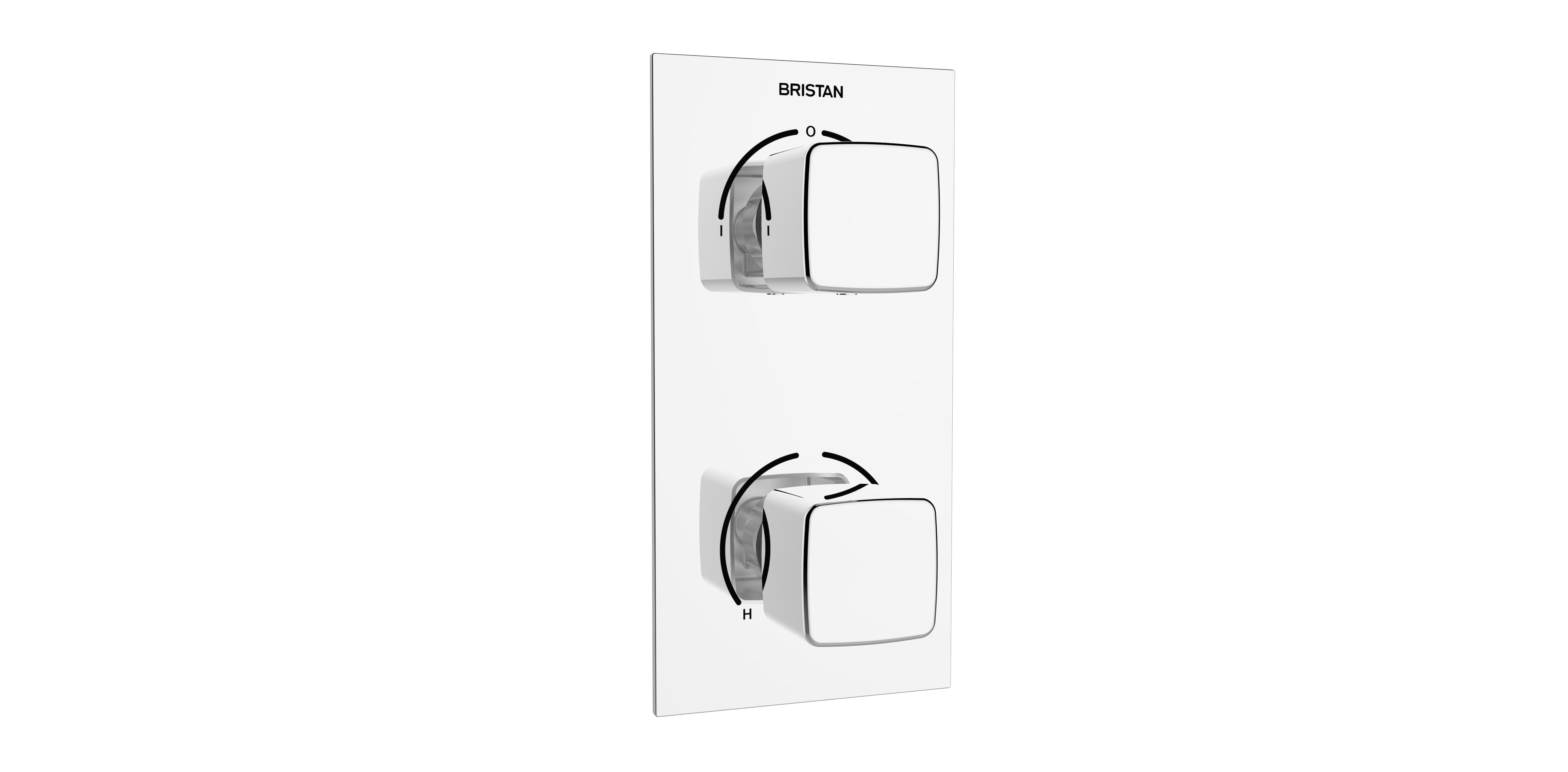 BRISTAN COBALT THERMOSTATIC RECESSED DUAL CONTROL VALVE WITH INTEGRAL DIVERTER - COB SHCVO C