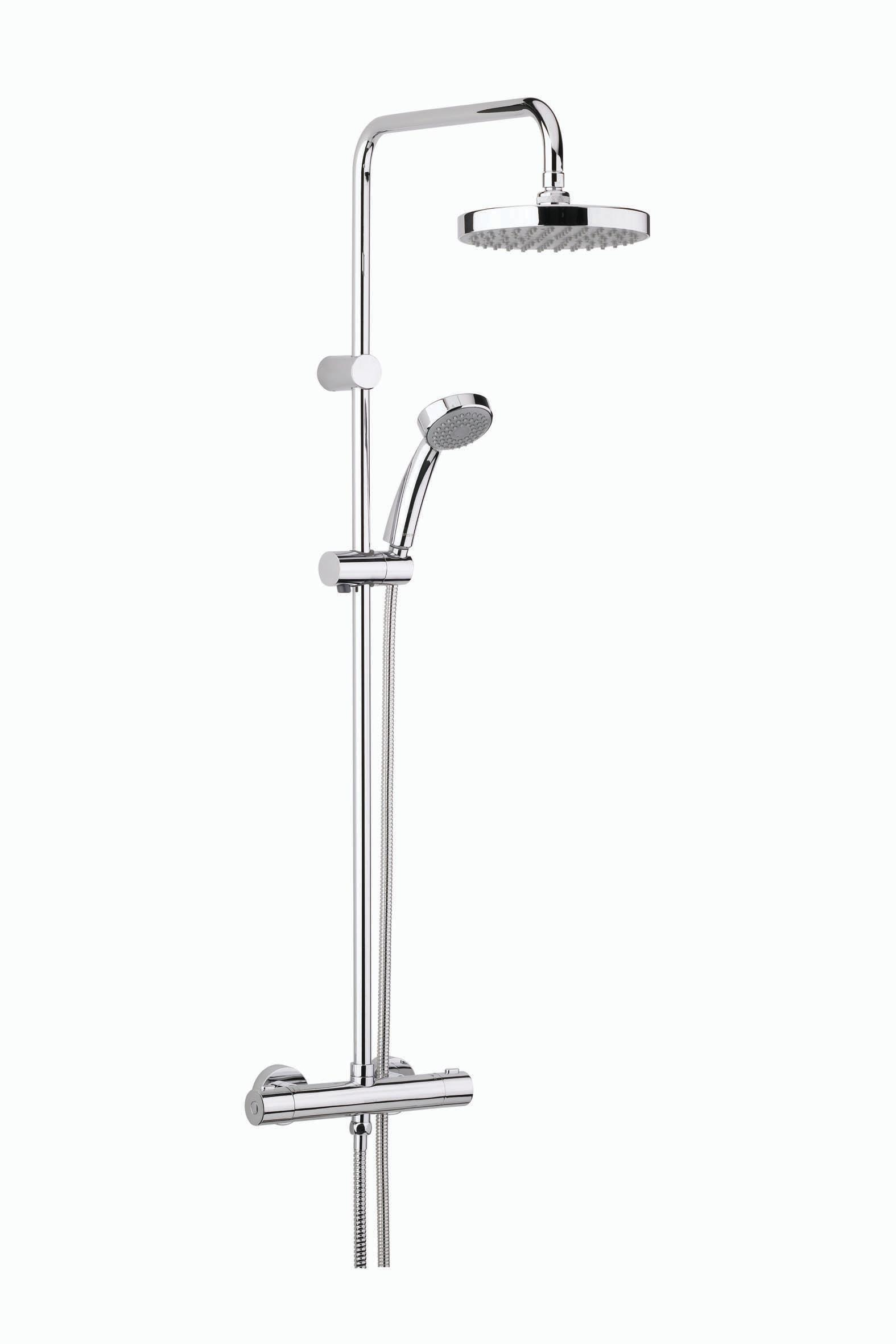 BRISTAN CARRE THERMOSTATIC BAR SHOWER VALVE WITH FIXED HEAD - CR SHXDIVFF C