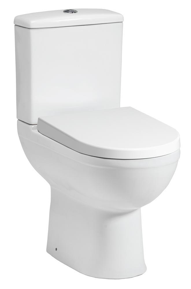 QX CAROLINA CLOSE COUPLED PAN / CISTERN & SOFT CLOSE SEAT